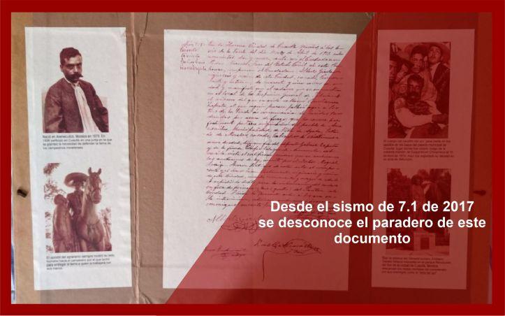 Acta de Defunción Zapata